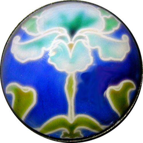 Crystal Dome Button Arts /& Crafts Flower Blue Iris ADF 18-1 inch  FREE US SHIP