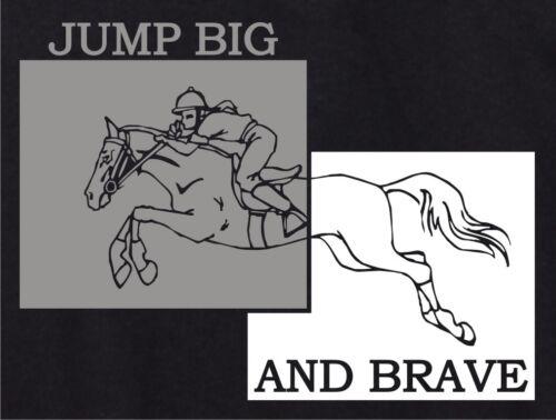 Jumping Big et courageux Horse /& Rider Sweat à capuche plusieurs couleurs /& tailles