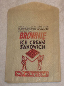 Antique/Vintage Palmer Cox Brownie Advertising Brownie Ice Cream Sandwich Bag