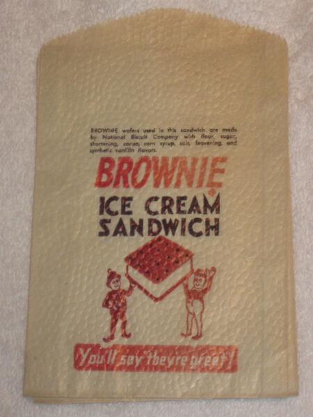 Adaptable Antigüedad/vintage Palmer Cox Brownie Publicidad Brownie Helado Sandwich Bolsa Oferta De Fin De AñO