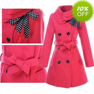 Womens-Woolen-Warm-Winter-Coat-Luxury-Long-Outerwear