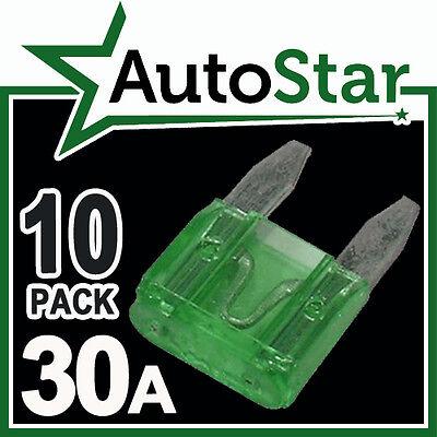 30 Amp MINI Blade Fuses x 10 – APM / ATM Automotive Fuse - Pack 30A 30Amp A Car