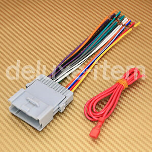 new car stereo head unit wire wiring harness adapter for kia image is loading new car stereo head unit wire wiring harness