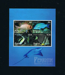 Penrhyn New Fish Definitive Stamp Issues Souvenir Sheets