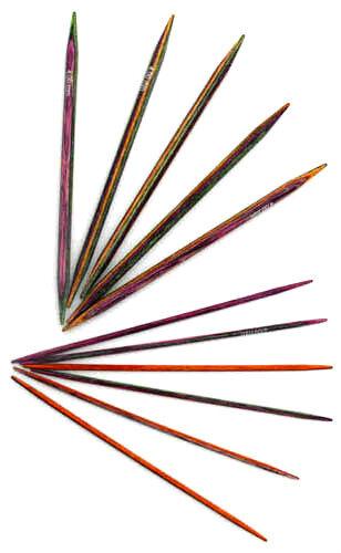 KnitPro Symfonie Wood Double Pointed Sock Needles DPN's 2mm - 4mm x 10cm