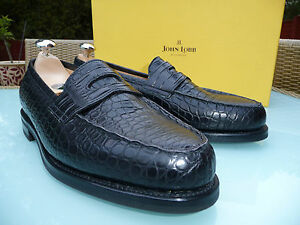 MTO-John-Lobb-LOPEZ-Black-Crocodile-Farmed-UK-8-E-Eu-42-US-9