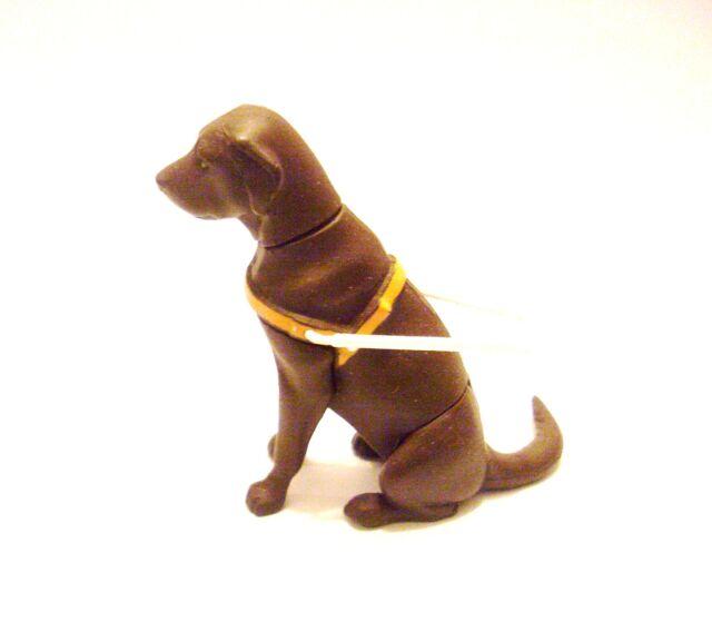 Kaiyodo ChocoQ Pet Animal 3 Brown Labrador Retriever Guide Dog Secret SP Figure