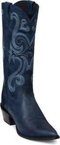 DURANGO-Crush-JEALOUSY13-Navy-Blue-RD3596-Leather-Western-Cowgirl-Boots-7M