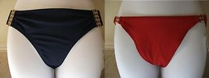 NWT-Genuine-ROBIN-PICCONE-bucle-sides-blue-or-red-swim-bikini-bottom-pant-L
