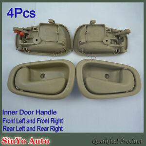 New Inner Inside Door Handle 4pcs Fit For Toyota Corolla Geo Prizm 1998 2002