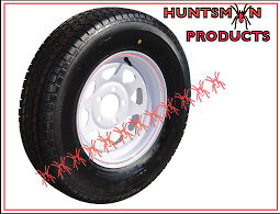 13X4-5-WHITE-HT-HOLDEN-SUNRAYSIA-TRAILER-WHEEL-FITTED-WITH-155R13-L-T-BRAND-NEW