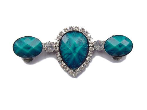 Pair SHOE CLIPS for Women HEEL JUBILEE BLUE