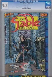 Jon Sable, Freelance #2 CGC 9.8 W by Mike Grell First
