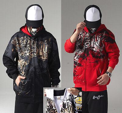 #21 Hip Hop ECKO Napping Cotton pure Zipper Hoodie Hedging Sweater Sweatshirt