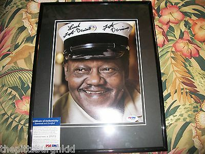 NICE FATS DOMINO 8 X 10 UNFRAMED SIGNED PHOTO CERTIFIED BY PSA DNA
