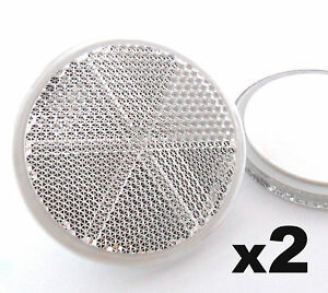 2x-Self-Adhesive-Stick-on-White-Round-Circular-Trailer-Caravan-Reflectors-50mm
