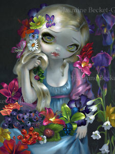 Jasmine-Becket-Griffith-art-print-SIGNED-Flora-flowers-greek-goddess-nymph-myth