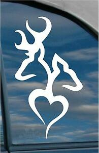 DEER-HEART-Doe-Buck-Hunting-Vinyl-Decal-sticker-wall-art-got-fish-truck-rifle