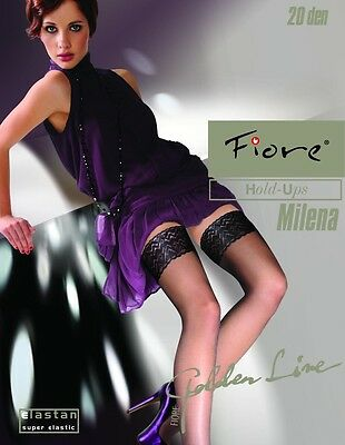"Fiore ""MILENA"" Sheer Lace Top Hold-ups - 20 Denier"