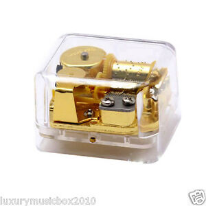 Luxury-Plastic-Music-Box-with-Lilium-Tune-of-Elfen-Lied-Model-Ft002-Clear-Base