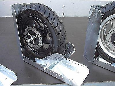 Radhalerung Vorderradklemme automatisch klappbare Motorradschiene PKW Anhänger40