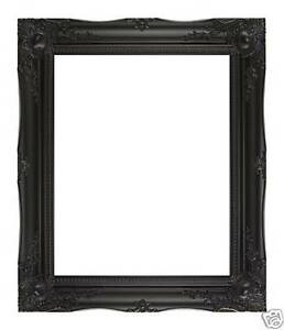 BLACK-ORNATE-ANTIQUE-FRENCH-SHABBY-CHIC-WALL-MIRROR-OVERMANTLE-BATHROOM-LARGE
