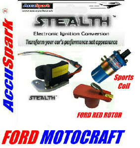 Ford-Essex-V6-Motorcraft-Stealth-Electronic-ignition-Blue-coil-free-red-rotor