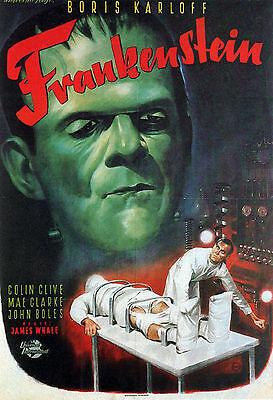FRANKENSTEIN Movie Poster Horror Vampires Universal Monsters