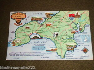 USED-MAP-POSTCARD-SOUTH-WEST-CORNWALL-2