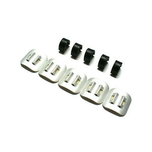 Silver gobike88 Jagwire Alloy Stick on Housing Cable Guide 5 pieces J98