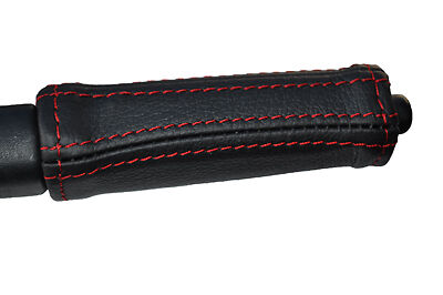 poignée frein à main en cuir ne couvrent que Red coutures fits DAIHATSU COPEN 2003