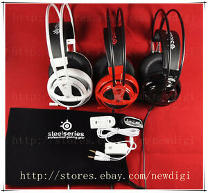 New-Steelseries-Siberia-V2-Gaming-Headset-with-extension-cable-and-soundcard