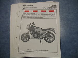 83 vf750 v45 interceptor honda factory oem assembly set up manual rh ebay co uk 1983 honda vf750f wiring diagram
