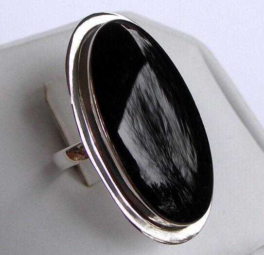 925 ECHT silver  Onyx Ring RIESENGROß, Größenauswahl