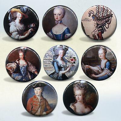 Marie Antoinette set of 8 buttons pinback badges