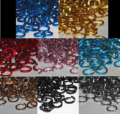 """SQUARE ANODIZED Jump Rings 100- 18g 3/16"""" ID ALL COLORS  chainmail chain mail"""