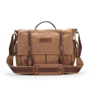 BBK-3 Canvas DSLR Camera Bag Shoulder Messenger Bag For Sony Canon Nikon--Yellow