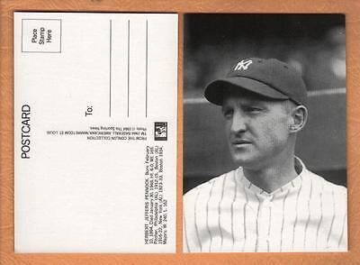 C M Conlon postcard: HERB PENNOCK, Yankees (1984 Marketcom/The Sporting News)