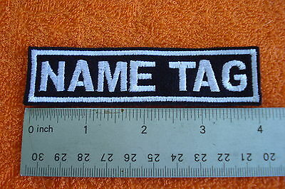 CUSTOM NAME TAG biker patch 10- block font