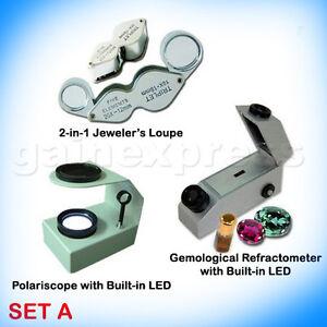 GEM-REFRACTOMETER-DESKTOP-POLARISCOPE-LOUPE-Set-A