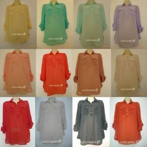 New primark sheer chiffon shirt blouse red orange mustard for Primark button down shirt