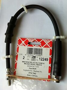 2-X-PEUGEOT-J5-J-5-FRONT-BRAKE-FLEXI-HOSE-4806-35-480635-12249-NEW-FEBI-GERMAN