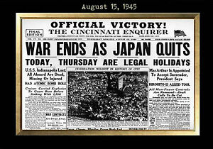 Image Is Loading MAGNET Vintage Newspaper Front Page CINCINNATI ENQUIRER WW2