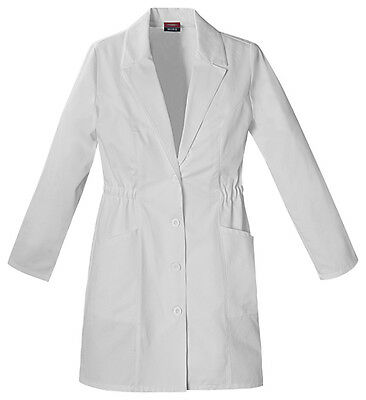 "Scrubs Dickies Womens 34"" Lab Coat White 84402  FREE SHIPPING!"