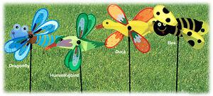 Nylon-Bug-Bee-Duck-Bird-Lawn-Spinner-Stake-Garden-Yard-Decor-36-NEW-LR112443