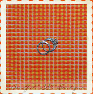 BonEful-Fabric-FQ-Cotton-Orange-VTG-Yellow-Seereucker-Pucker-Gingham-Check-Plaid