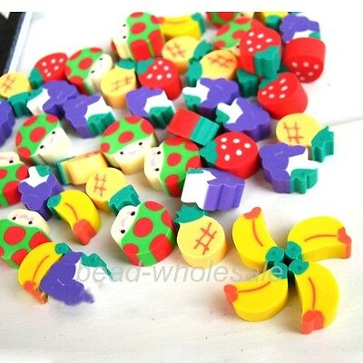 New Rubber Eraser Fruit Pencil Erasers Children Kid Gift Favors School supplies