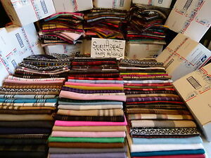 Lot-of-22-100-Cashmere-Winter-72X12-Long-Scarf-Assorted-Check-Plaid-Men-Women