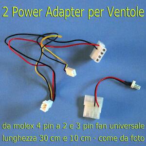 3-Power-Adapter-per-Ventole-da-Molex-4-pin-a-2-3-4-Pin-Fan-30-10-10-cm