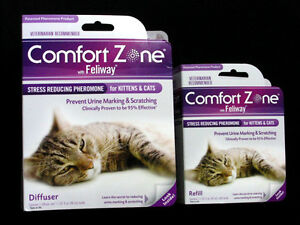 COMFORT-ZONE-FELIWAY-DIFFUSER-AND-REFILL-FOR-CATS-amp-KITTENS-NEW-FACTORY-SEALED